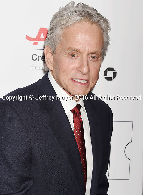 BEVERLY HILLS, CA - FEBRUARY 08: Actor Michael Douglas attends AARP's Movie For GrownUps Awards at the Regent Beverly Wilshire Four Seasons Hotel on February 8, 2016 in Beverly Hills, California.