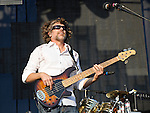Keith Moseley of The String Cheese Incident performs during the Hangout Music Fest in Gulf Shores, Alabama on May 19, 2012.