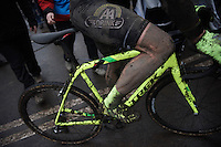 Sven Nys (BEL/Crelan-AAdrinks) post-race<br /> <br /> Grand Prix Adrie van der Poel, Hoogerheide 2016<br /> UCI CX World Cup