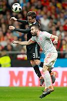 Spain's Daniel Carvajal (r) and Argentina's Nicolas Tagliafico during international friendly match. March 27,2018. *** Local Caption *** © pixathlon<br /> Contact: +49-40-22 63 02 60 , info@pixathlon.de