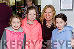 Claudia Duffy, Ava Duffy, Helen Ní Rinn and Aisling Ní Suilleabhain at the Robin Hood panto in Killorglin CYMS on Sunday
