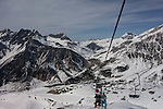 View from Albona 2 Chairlift, Stuben Ski Area, St Anton, Austria