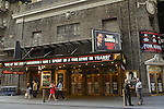 NYC, New York, U.S.  21st May 2013. Pedestrians walk in front of The Broadhurst Theater, which features the Broadway play 'Lucky Guy' starring Tom Hanks, during a pleasant spring day, with a high of 86ºF/32ºC in Manhattan.