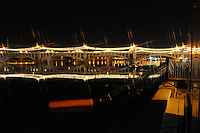 Tempe, Arizona. A night view of the one of the Mill Avenue bridges at Tempe Town Lake. The reflection of the bridge's lights create an spectacular view. Photo by Eduardo Barraza © 2015