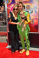 "Tara Strong & Greg Cipes at the premiere for ""Teen Titans Go! to the Movies"" at the TCL Chinese Theatre, Los Angeles, USA 22 July 2018<br /> Picture: Paul Smith/Featureflash/SilverHub 0208 004 5359 sales@silverhubmedia.com"