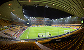 5th February 2019, Molineux Stadium, Wolverhampton, England; FA Cup football, 4th round replay, Wolverhampton Wanderers versus Shrewsbury Town; General view of the pitch and stadium from behind the corner flag in the stands