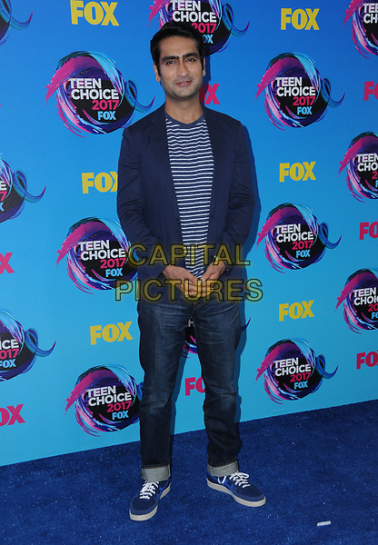 13 August  2017 - Los Angeles, California - Kumail Nanjiani. Teen Choice Awards 2017 held at the Galen Center in Los Angeles. <br /> CAP/ADM/BT<br /> &copy;BT/ADM/Capital Pictures