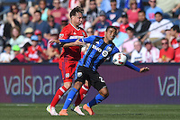 Bridgeview, Illinoiis - Saturday April 16, 2016:  The Montreal Impact defeated the Chicago Fire by the score of 2-1.