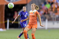 Stephanie Ochs (22) of the Houston Dash looks to gain control of a loose ball against the Orlando Pride on Friday, May 20, 2016 at BBVA Compass Stadium in Houston Texas. The Orlando Pride defeated the Houston Dash 1-0.