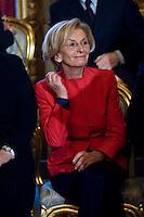 Emma Bonino, ministro degli Esteri, durante la cerimonia del giuramento del nuovo Governo Letta nel Salone delle Feste del Quirinale.
