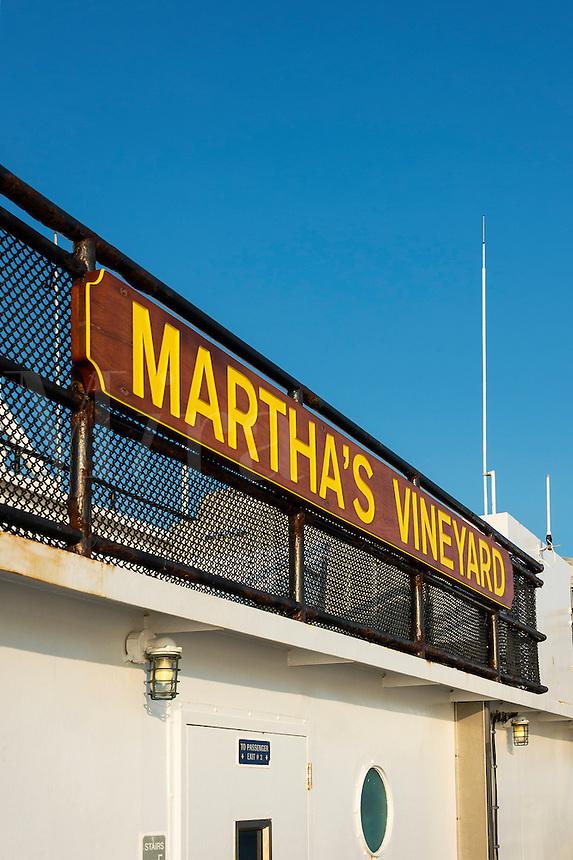 Martha's Vineyard ferry between Woods Hole and Vineyard Haven, Massachusetts, USA