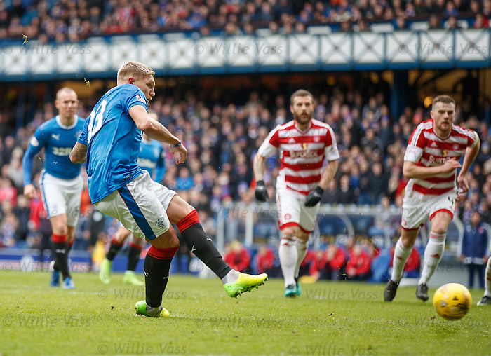 Martyn Waghorn scortes from the penalty spot