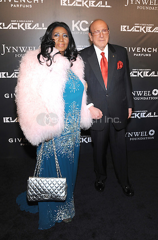 New York, NY- October 30:  Aretha Frannklin and Clive Davis  attends Keep a Child Alive's 11Annual Black Ball at Hammerstein Ballroom on October 30, 2014 in New York City. Credit: John Palmer/MediaPunch