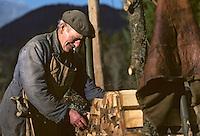 Europe/France/Auverne/63/Puy-de-Dôme/Parc Naturel Régional du Livradois-Forez/Env. d'Ambert: Coupe du Bois [Non destiné à un usage publicitaire - Not intended for an advertising use]<br /> PHOTO D'ARCHIVES // ARCHIVAL IMAGES<br /> FRANCE 1980