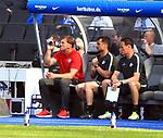 12.05.2018, OLympiastadion, Berlin, GER, 1.FBL, Hertha BSC VS. RB Leipzig, im Bild <br /> Trainer, Ralph Hasenhuettl (RB Leipzig)<br /> <br /> <br />       <br /> Foto &copy; nordphoto / Engler