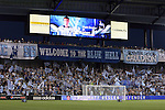 09 June 2011: Kansas City fans cheer during player introductions. Sporting Kansas City played the Chicago Fire to a 0-0 tie in the inaugural game at LIVESTRONG Sporting Park in Kansas City, Kansas in a 2011 regular season Major League Soccer game.