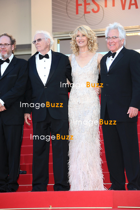 CPE/Actor Will Forte, actress June Squibb, director Alexander Payne, actor Angela McEwan, producer Albert Berger, actors Bruce Dern and Laura Dern and producer Ron Yerxa attend the 'Nebraska' premiere during The 66th Annual Cannes Film Festival at the Palais des Festival on May 23, 2013 in Cannes, France.