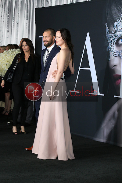 "Jamie Dornan, Dakota Johnson<br /> at the ""Fifty Shades Darker"" World Premiere, The Theater at Ace Hotel, Los Angeles, CA 02-02-17<br /> David Edwards/DailyCeleb.com 818-249-4998"