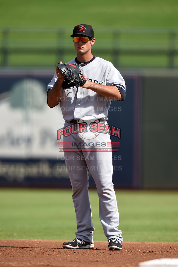 Scottsdale Scorpions infielder Greg Bird (20) during an Arizona Fall League game against the Surprise Saguaros on October 16, 2014 at Surprise Stadium in Surprise, Arizona.  Surprise defeated Scottsdale 7-3.  (Mike Janes/Four Seam Images)