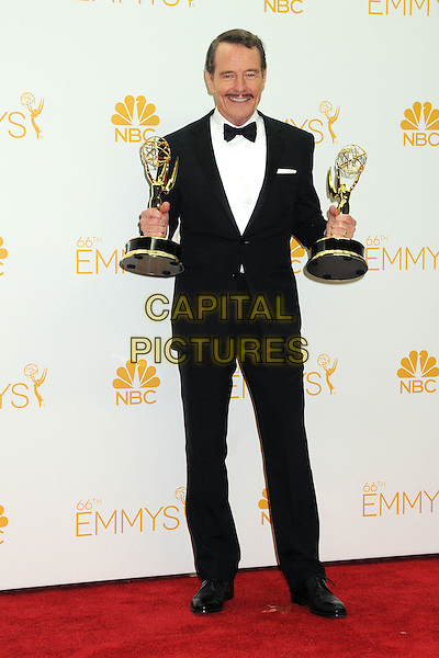 25 August 2014 - Los Angeles, California - Bryan Cranston. 66th Annual Primetime Emmy Awards - Press Room held at Nokia Theatre LA Live. <br /> CAP/ADM/BGP<br /> &copy;BGP/ADM/Capital Pictures