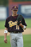 Jeff Larish of the Arizona State Sun Devils during a game against the Cal State Fullerton Titans at Goodwin Field on June 6, 2003 in Fullerton, California. (Larry Goren/Four Seam Images)