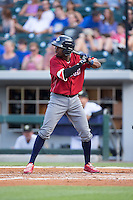 Darnell Sweeney (24) of the Lehigh Valley Iron Pigs at bat against the Charlotte Knights at BB&T BallPark on June 3, 2016 in Charlotte, North Carolina.  The Iron Pigs defeated the Knights 6-4.  (Brian Westerholt/Four Seam Images)