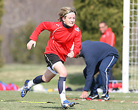 Sonia Bompastor during Washington Freedom  practice and media event at the Maryland Soccerplex on March 25 in Boyd's, Maryland.