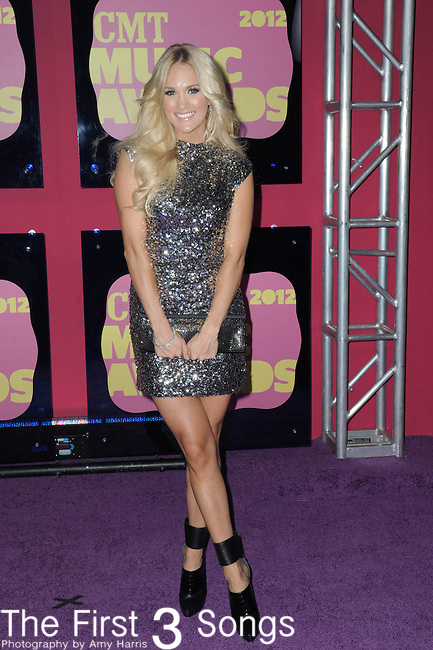 Carrie Underwood attends the 11th Annual CMT Awards in Nashville, TN on June 6, 2012.
