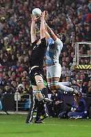 Brodie Retallick and Juan Martin Fernandez Lobbe,  during the 2013 Rugby Championship - All Blacks v Argentina at Waikato Stadium, Hamilton, New Zealand on Saturday, 7th September   2013. Copyright Dion Mellow Photography. Credit DMP / Dion Mellow