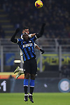 Jose Palomino of Atalanta and Romelu Lukaku of Inter leap for an aerial ball during the Serie A match at Giuseppe Meazza, Milan. Picture date: 11th January 2020. Picture credit should read: Jonathan Moscrop/Sportimage