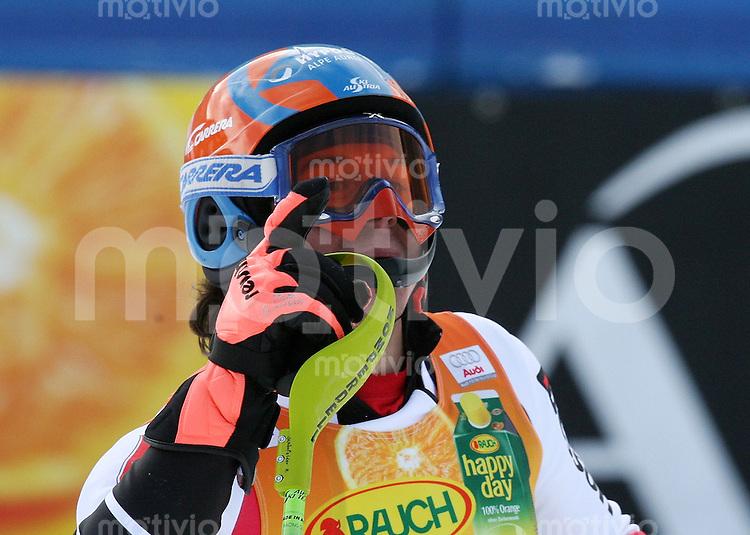 Ski Alpin; Saison 2006/2007   Herren Slalom JUBEL, Rainer Schoenfelder (AUT) belegt Platz 3.