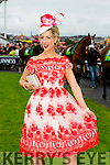 Brid Hayes from Ballyhahill, County Limerick winner of the Best Dressed Lady at the McElligott's – Honda Ladies Day at the Listowel Harvest Racing Festival on Friday
