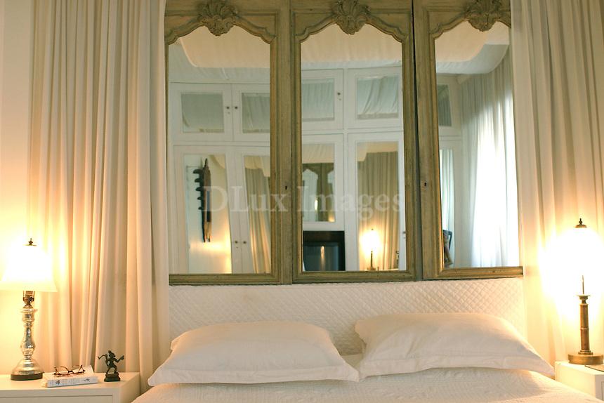 luxury bedroom with ethnic decorations
