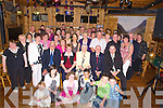 Mick and Kitty Kenny, Groyne, Killorglin, pictured with their son Michael, family and friends as they celebrated their 50th wedding anniversary in Kate Kearneys, Beaufort, on Friday evening...