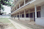 TUOL SLENG S-21 was originally a high school until the tyrant, Pol Pot turned it into an interrogation room, a torture chamber and finally a prison where victims were housed until taken away to be a executed in the infamous Killing Fields. Today Tuol Sleng is a MUSEUM of GENOCIDE CRIMES