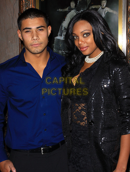 "JULIO ALVAREZ & TIFFANY HINES .Opening Night Of ""STOMP"" held At The Pantages Theatre, Hollywood, California , USA, 26th January 2010..arrivals half length blue shirt black jacket lace top sequined sequin .CAP/ADM/KB.©Kevan Brooks/AdMedia/Capital Pictures."