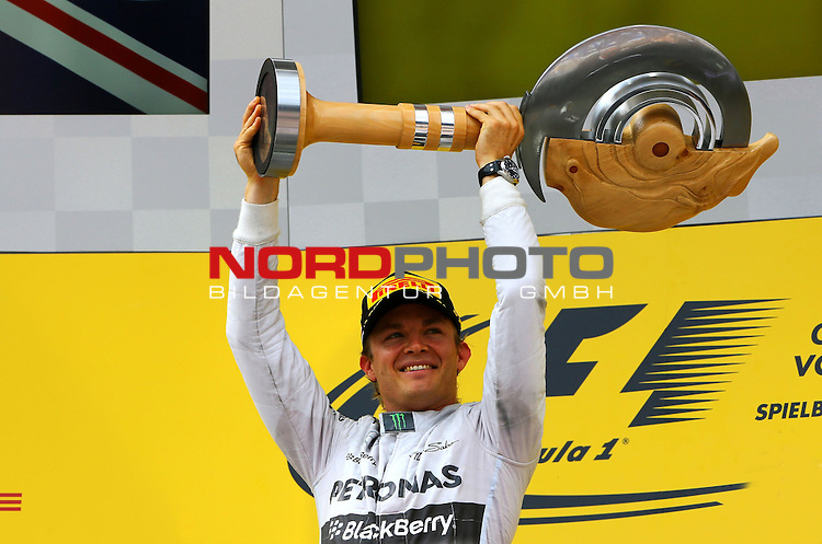 Podium - Nico Rosberg (GER), Mercedes GP<br /> for the complete Middle East, Austria &amp; Germany Media usage only!<br />  Foto &copy; nph / Mathis