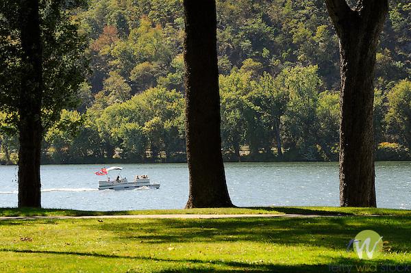 Shikellamy State Park, Sunbury, PA. Houseboat.