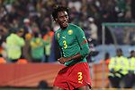19 JUN 2010: Nicolas Nkoulou (CMR). The Cameroon National Team lost 1-2 to the Denmark National Team at Loftus Versfeld Stadium in Tshwane/Pretoria, South Africa in a 2010 FIFA World Cup Group E match.