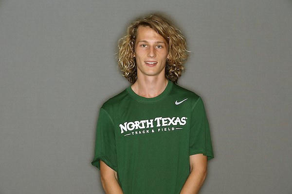 DENTON, TX - AUGUST 29: James Coleman of the North Texas Mean Green Track & Field team at Fouts Field in Denton on August 29, 2013 in Denton, Texas. Photo by Rick Yeatts
