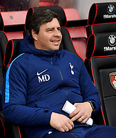 Tottenham Hotspur First team coach Miguel D'Agostino<br /> <br /> Bournemouth 1 - 4 Tottenham Hotspur<br /> <br /> Photographer David Horton/CameraSport<br /> <br /> The Premier League - Bournemouth v Tottenham Hotspur - Sunday 11th March 2018 - Vitality Stadium - Bournemouth<br /> <br /> World Copyright &copy; 2018 CameraSport. All rights reserved. 43 Linden Ave. Countesthorpe. Leicester. England. LE8 5PG - Tel: +44 (0) 116 277 4147 - admin@camerasport.com - www.camerasport.com