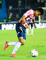 BARRANQUIILLA - COLOMBIA, 23-01-2019: Luis Diaz del Junior en acción durante el partido de ida entre Atlético Junior y Deportes Tolima por la Súper Liga Águila 2019 jugado en el estadio Metropolitano Roberto Melendez de la ciudad de Barranquilla. / Luis Diaz of Junior in action during the first leg match between Atletico Junior and Deportes Tolima of the Aguila Super League 2019 played at Metropolitano Roberto Melendez stadium in Barranquilla city.  Photo: VizzorImage / Alfonso Cervantes / Cont