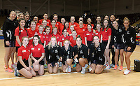 08.02.2017 Action during the Wales v Silver Ferns netball test match at Swansea University at Ice Arena Wales. Mandatory Photo Credit ©Ian Cook/Michael Bradley Photography.
