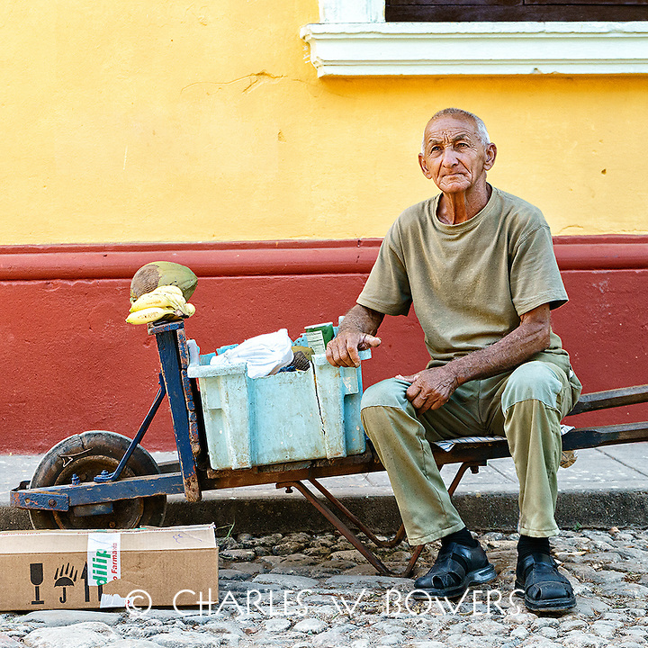 Faces Of Cuba - The banana vendor waiting for a customer.<br /> <br /> -Limited Edition of 50 prints.