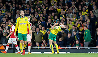 Nelson Oliveira shows his frustration during the Carabao Cup match between Arsenal and Norwich City at the Emirates Stadium, London, England on 24 October 2017. Photo by Carlton Myrie.