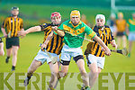 Abbeydorney's l-r: Eoin Egan and Danny McDonagh and Kilmoyley's Tom Murnane.