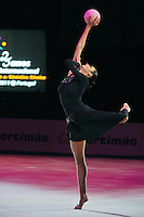 Anna Bessonova of Ukraine performs gala exhibition at 2011 World Cup at Portimao, Portugal on May 01, 2011.