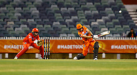 1st November 2019; Western Australia Cricket Association Ground, Perth, Western Australia, Australia; Womens Big Bash League Cricket, Perth Scorchers versus Melbourne Renegades; Meg Lanning of the Perth Scorchers hits down the ground - Editorial Use