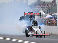 Apr 21, 2018; Baytown, TX, USA; NHRA top fuel driver Billy Torrence during qualifying for the Springnationals at Royal Purple Raceway. Mandatory Credit: Mark J. Rebilas-USA TODAY Sports