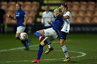 Chloe Kelly of Everton women  gets in a shot during Tottenham Hotspur Women vs Everton Women, Barclays FA Women's Super League Football at the Hive Stadium on 12th February 2020